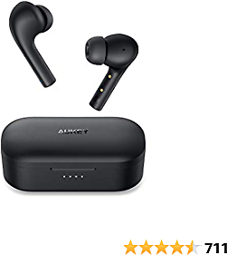 AUKEY True Wireless Earbuds, Bluetooth 5 Headphones with Immersive Sound, 30-Hours Playtime, USB C Quick Charge, IPX6 Water-Resistant, Noise Cancelling Mics Earphones for IPhone and Android