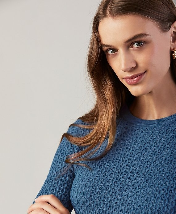 Cable-Knit Merino Wool Sweater - Brooks Brothers