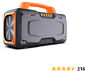 Bluetooth Speakers, BUGANI M118 Portable Bluetooth Speakers, 50W Super Power, Fast Charging, Outdoor Bluetooth Speaker for Parties, Singing and Travel (Orange) …