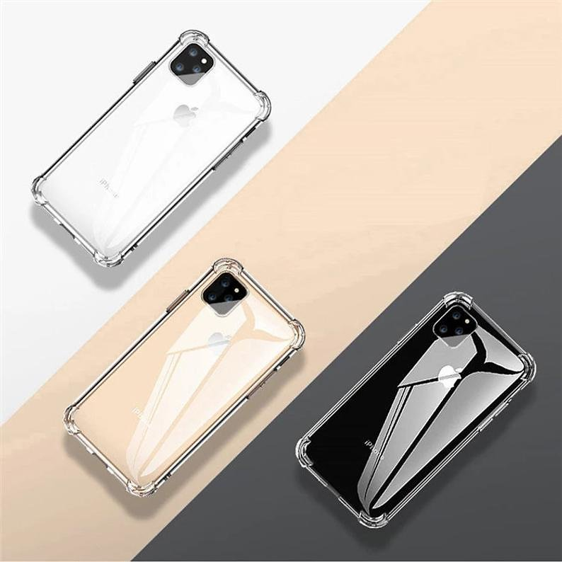 Transparent Clear Soft Case For iPhone 11,12
