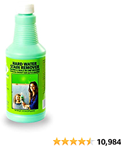 Bio Clean: Eco Friendly Hard Water Stain Remover (40oz Extra Large)- Our Professional Cleaner Removes Tough Water Stains From Shower Doors, Windshields, Windows, Chrome, Tiles, Toilets, Granite, Steel E.c.t