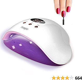 Nail Curing Lamp, Feagar Portable Nail Dryer, LED Gel Nail Polish Light with Automatic Sensor for Fingernails and Toenails, White (12W Nail Lamp)
