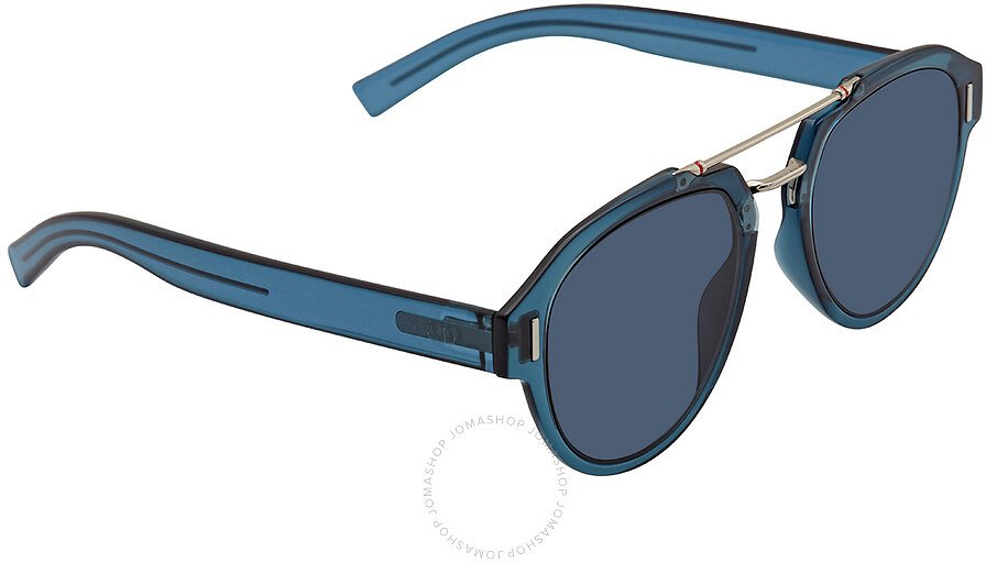 Dior Fraction 5 Blue Mirror Shaded Gold A9 Round Men's Sunglasses DIOR FRACTION 5 0PJP A9 50