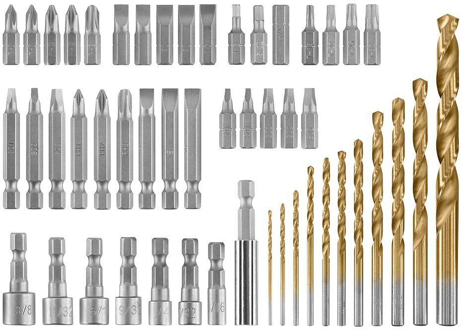 HART 50-Piece Drill and Drive Set with Protective Storage Case