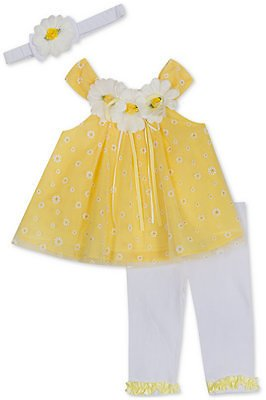 Baby Girls 2-Pc. Daisy Tunic & Leggings Set