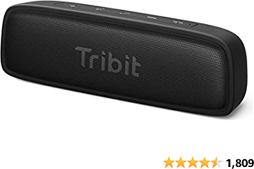 Bluetooth Speakers, Tribit XSound Surf Bluetooth Speaker with 12W Superior Sound, Bluetooth 5, IPX7 Waterproof, Wireless Stereo Pairing, USB-C, 100ft Wireless Range Perfect for Home, Outdoor, Travel