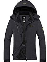 MOERDENG Women's Waterproof Ski Jacket Warm Winter Snow Coat Mountain Windbreaker Hooded Raincoat Snowboarding Jackets: Clothing