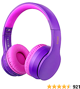 Ifecco Bluetooth Headphones, 4 in 1 Upgrade Bluetooth Foldable Over-Ear Headsets with Micro Support SD/TF Card Compatible with Bluetooth-Enabled Devices (Deep Blue)