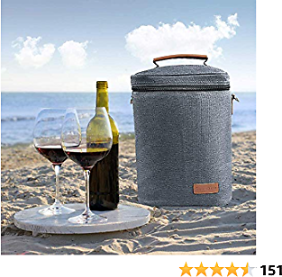 Wine Carrier Tote -4 Bottle Wine Carrier with Shoulder Strap By Samshow, Padded Protection, and Corkscrew for Travel, Camping and Picnic,
