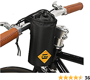 CS Force Bike Water Bottle Holder, Insulated Bicycle Water Bottle Cages, 3 Ponit Straps Handlebar Cup Holder Drink Holder Food Snack Storage Bag for Pushchair, Mountain, Folding, Road Bikes