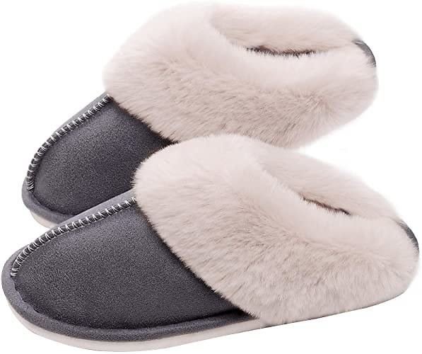 36% Discount - SOSUSHOE Womens Slippers Memory Foam Fluffy Fur Soft Slippers Warm House Shoes Indoor Outdoor Winter