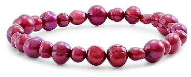 Honora Freshwater Cultured Cranberry Pearl Stretch Bracelet