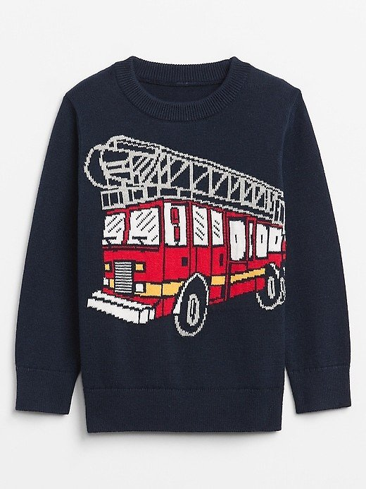 Toddler Graphic Knit Sweater