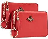 REAL LEATHER Small Wallets For Women - Compact Ladies Credit Card Holder With Coin Purse RFID Holiday Gifts For Her At Amazon Women's Clothing Store