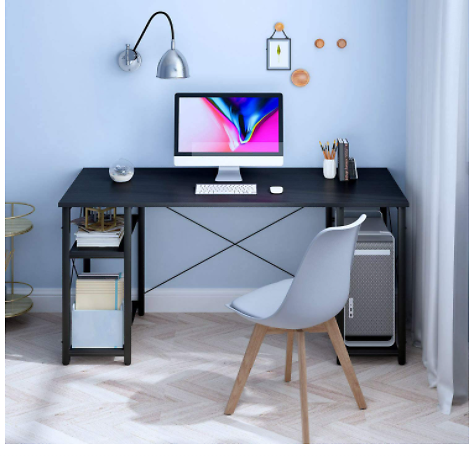 Computer Desk with Shelves 55-inch