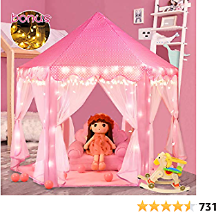 Amazon : Princess Castle Girls Play Tent Toy For $31.99($38.99) + Prime Shipping