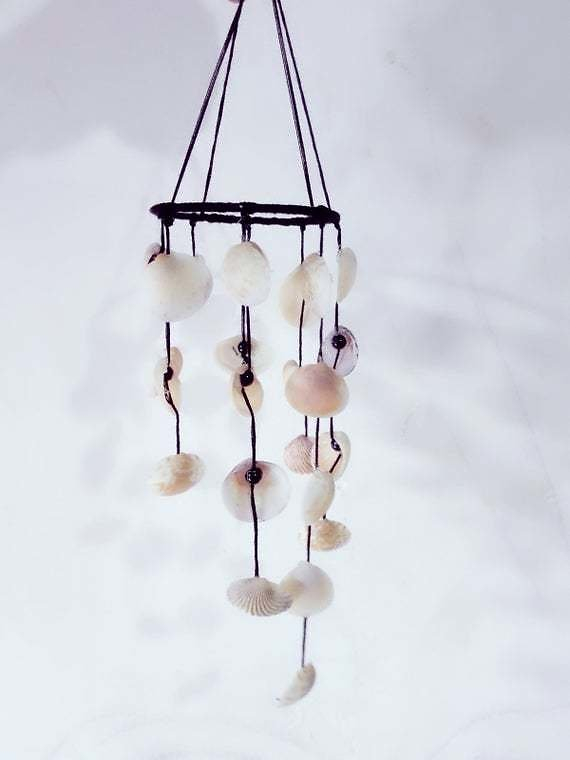Wind Chime Sea Shell, Home And Garden Decor, Shell Mobile.