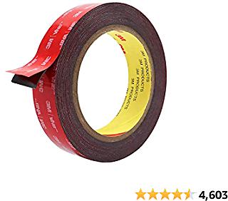 Double Sided Tape, HitLights 3M Mounting Tape Heavy Duty, Waterproof Foam Tape, 16FT Length, 0.94 Inch Width for Car, LED Strip Lights, Home Decor, Office Decor
