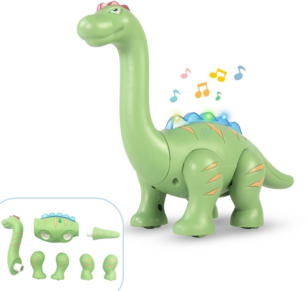 Touch for Recording Talking Magnetic Build Dinosaur Toy w/ Sounds Light