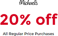 20% Off All Regular Price Purchases