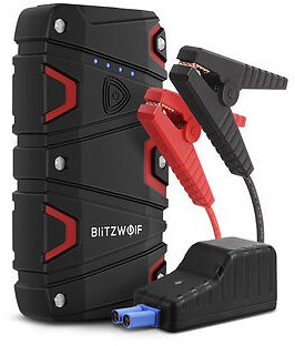 BlitzWolf® BW-JS1 Portable Car Jump Starter 12000mAh 800A Emergency Battery Booster Power Bank Waterproof with LED Flashlight QC3.0 USB Charging Port