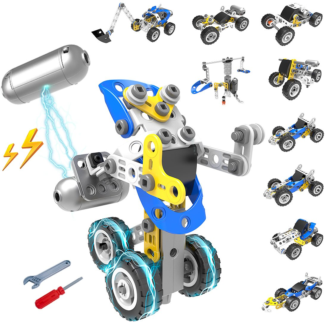 10 IN 1 DIY Build Powered Motor Vehicle Toy Sets