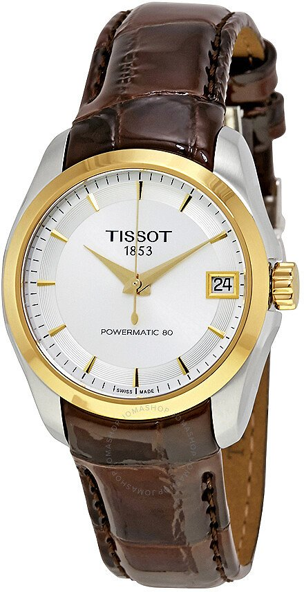 Tissot Couturier Powermatic 80 Silver Dial Ladies Watch T0352072603100