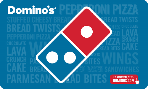 Back! $50 Domino's® Pizza Gift Card