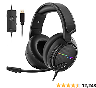 Jeecoo Xiberia USB Pro Gaming Headset for Laptop