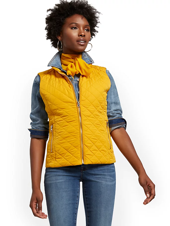 Zip-Front Quilted Vest (3 Colors)