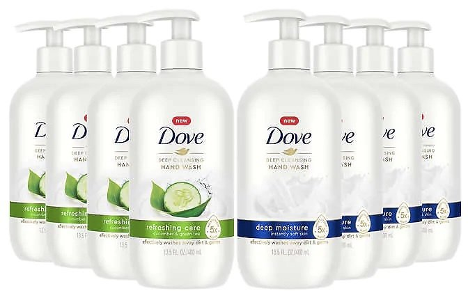 Dove Deep Cleansing Hand Wash 13.5 Fl Oz, 8-pack