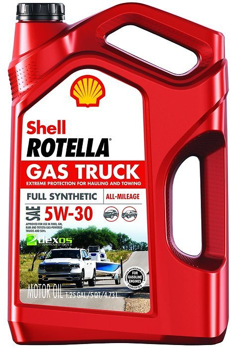 2 FREE Shell Rotella Gas Truck Full Synthetic Engine Oil, 5W-30, 5 Qt.