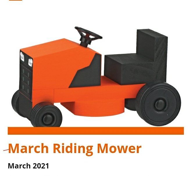 Free Kids March Riding Mower Event