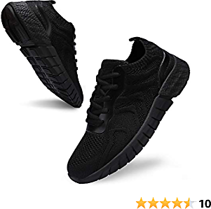 Uubaris Women's Athletic Mesh Breathable Sneakers Lace Up Running Comfort Fashion Tennis Shoes