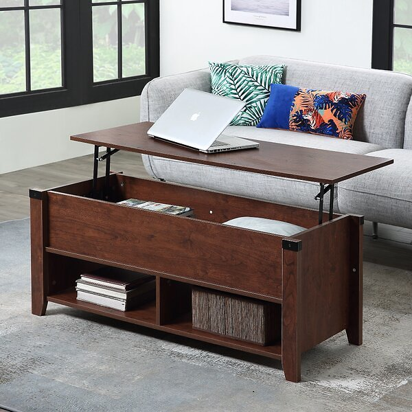 Lift Top Extendable Coffee Table with Storage