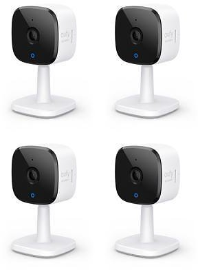 Eufy Security 2K Indoor Cam (4 Pack), Plug-in Security Indoor Camera with Wi-Fi, IP Camera,Human and Pet AI, Works with Voice Assistants, Night Vision, Two-Way Audio, HomeBase Not Required - Newegg.com