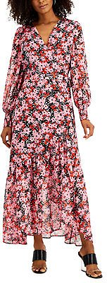 Bar III Floral-Print Wrap Dress, Created for Macy's & Reviews - Dresses - Women