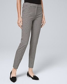 White House Black Market Comfort Stretch Houndstooth Slim Ankle Pants