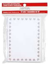 Valentine Foil Heart Bordered Flat Cards & Envelopes By Recollections™, 3.5