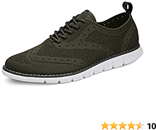 Uubaris Men's Oxford Shoes Breathable Mesh Wingtip Sneakers Comfort Casual Dress Shoes for Business