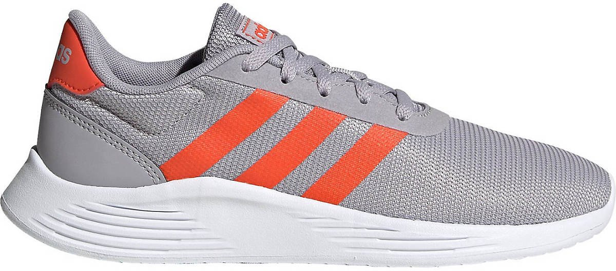 Adidas Kids' Lite Racer 2.0 Running Shoes (Gray/Orange)