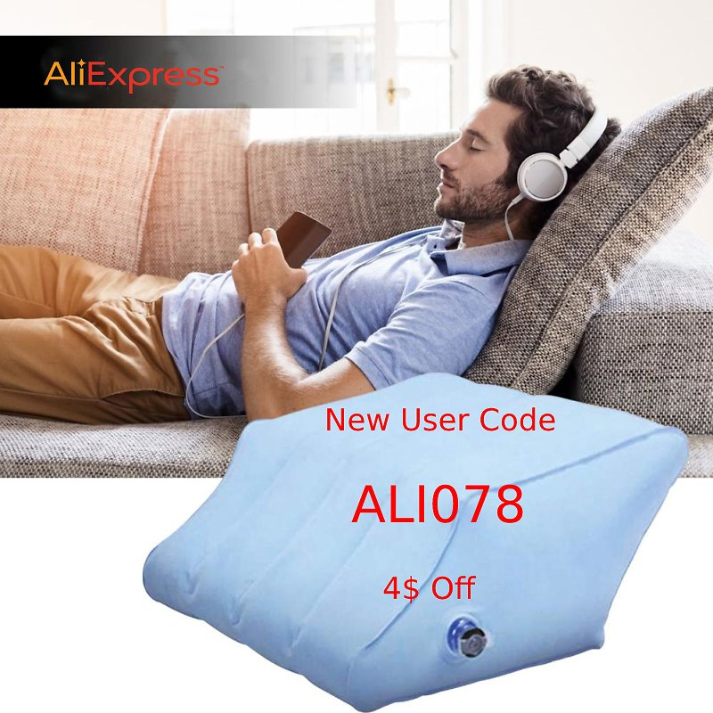 16% Off + 4$ Off with Code ALI078: Inflatable Rhombus Leg Pillow