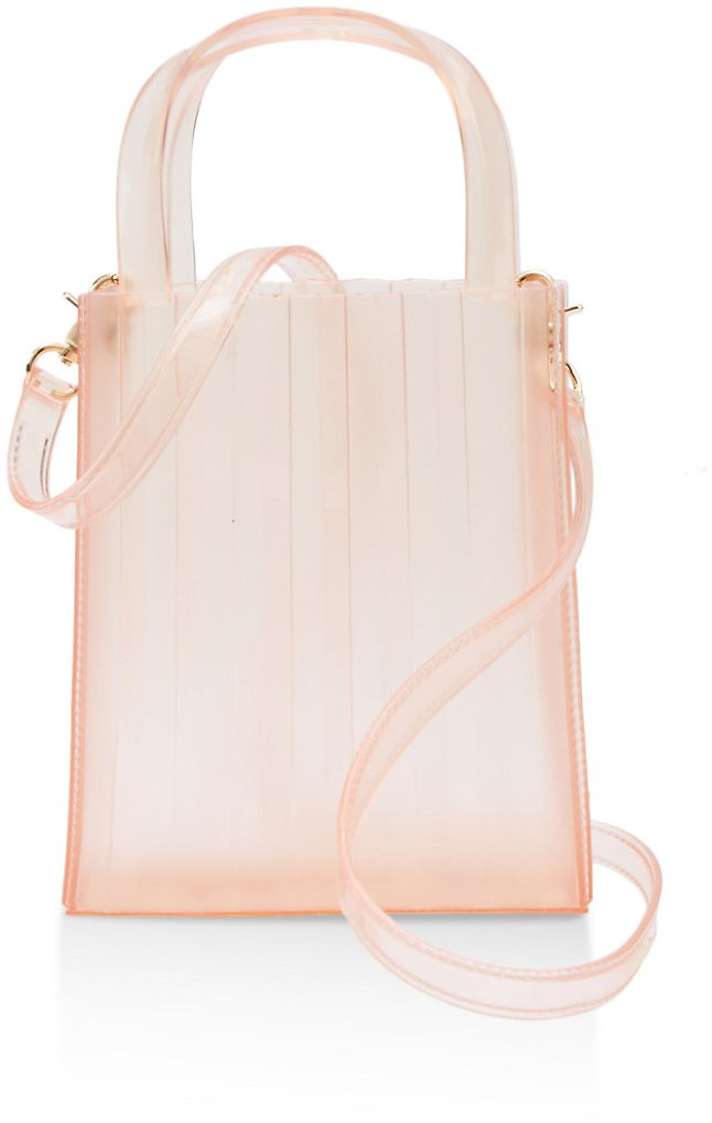 Clear Pleated Tote Bag