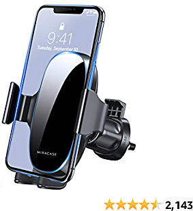 Miracase Universal Phone Holder for Car, Air Vent Car Phone Holder Mount Compatible with IPhone 12 Pro Max/11 Pro Max/SE/XR/XS/8
