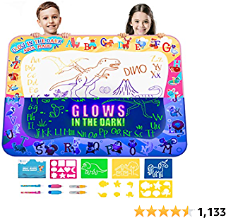 Amazon : Kids Water Doodle Drawing Pad Mat $19.54($24.95) + Prime Shipping