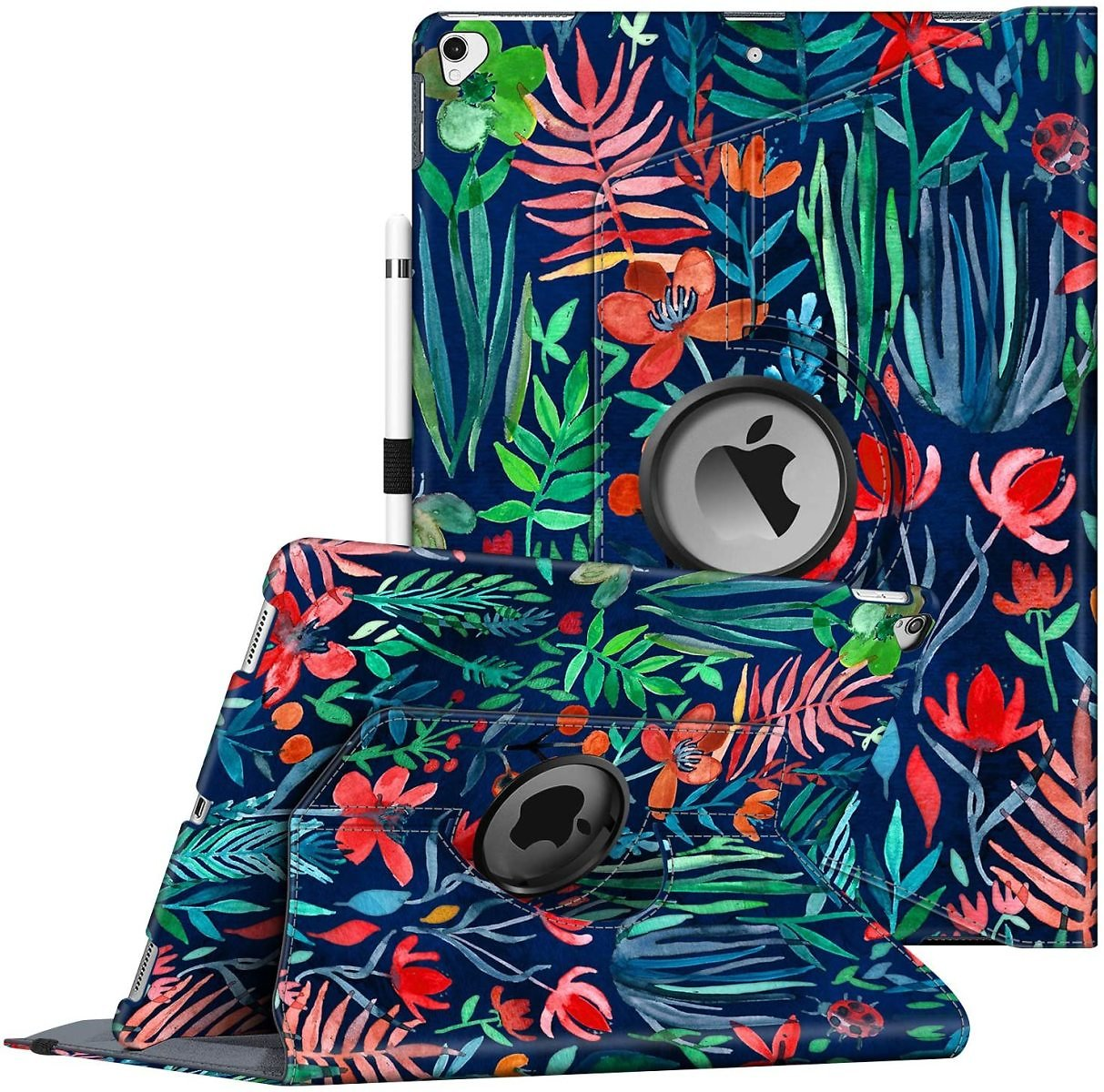 Fintie Rotating Case for IPad Pro 12.9 (2nd Gen) 2017 / IPad Pro 12.9 (1st Gen) 2015 - 360 Degree Rotating Stand Case with Smart Protective Cover Auto Sleep/Wake, Jungle Night