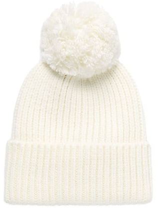 UGG Rib-Knit & Faux Fur Pom-Pom Beanie On SALE | Saks OFF 5TH