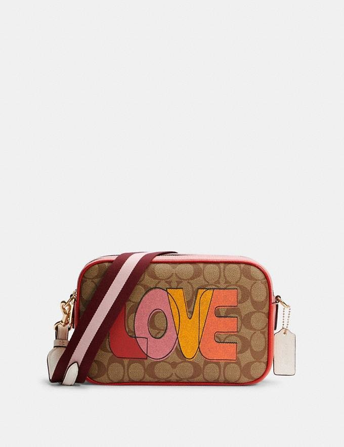 Jes Crossbody in Signature Canvas with Love Print