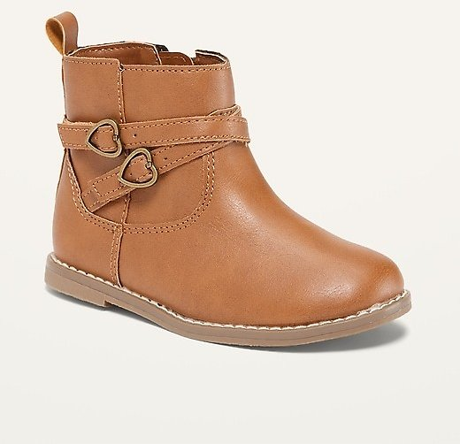 Faux-Leather Double-Strap Boots for Toddler Girls   Old Navy