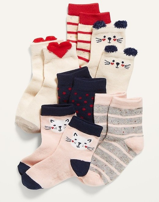 Printed Crew Socks 6-Pack for Toddler & Baby | Old Navy